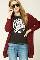 Forever 21 Rock N Roll Graphic Tee Black Cream