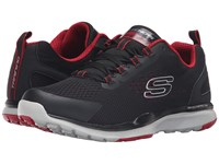 Skechers Quick Shift Tr Black Red Men's Lace Up Casual Shoes