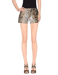 Blumarine Denim Denim Shorts Women Sand