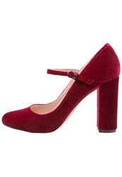 Pura Lopez High Heels Bordo Bordeaux