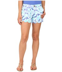 Lilly Pulitzer Buttercup Shorts Lillys Lilac Nice Ink Women's Shorts Blue