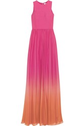 Matthew Williamson Degrade Silk Voile Gown Pink