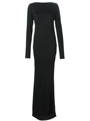 Alexandre Vauthier Open Back Draped Gown Black