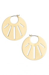 Madewell Women's 'Rose' Cutout Hoop Earrings Vintage Gold