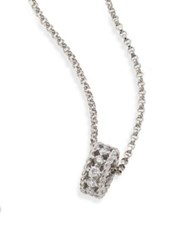 Roberto Coin Symphony Braided Diamond And 18K White Gold Pendant Necklace