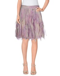 Blumarine Skirts Knee Length Skirts Women Light Purple