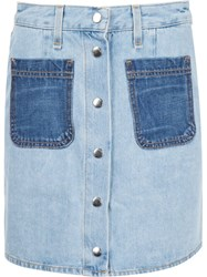 Rag And Bone 'Santa Cruz' Mini Skirt Blue