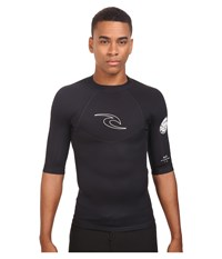 Rip Curl Dawn Patrol 1.5Mm Short Sleeve Jacket Black Men's Swimwear