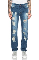 Stampd Distressed Essential Jeans In Blue
