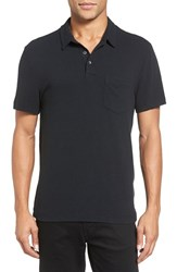 James Perse Men's Short Sleeve Jersey Polo True Black