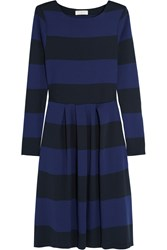 Chinti And Parker Striped Pleated Cotton Jersey Dress