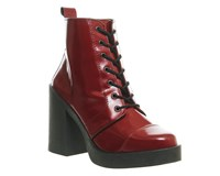 Office Live Wire Chunky Lace Up Boots Burgundy