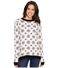Hatley Crew Neck Sweater Alpine Snowflakes Women's Sweater Multi