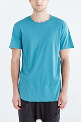 Feathers Twisted Neck Tee Blue