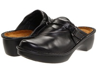 Naot Footwear Florence Black Midnight Leather Women's Clog Shoes
