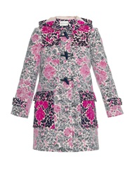 Mary Katrantzou Chanty Rose Phillipe Lace Overlay Duffle Coat