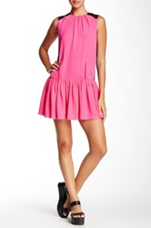 L.A.M.B. Silk Drop Waist Dress Pink