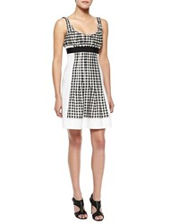Diane Von Furstenberg Daisy Empire Waist Gingham Dress Gingham Black