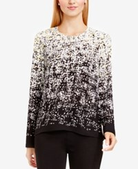 Vince Camuto Textured Ombre Blouse Swan Grey