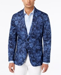 Inc International Concepts Men's Jack Slim Fit Floral Print Blazer Only At Macy's Navy