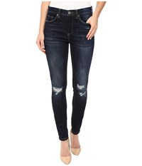Blank Nyc Mid Rise Distressed Blue Skinny In Fully Loaded Fully Loaded Women's Jeans