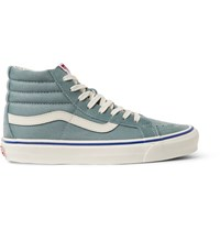 Vans Og Sk8 Hi Lx Suede And Canvas High Top Sneakers Sky Blue