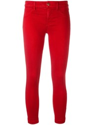 J Brand Cropped Skinny Jeans Red