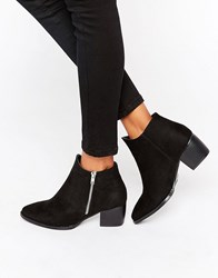 Truffle Collection Thea Side Zip Boots Black Micro