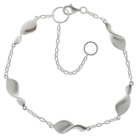 Nina B Sterling Silver Swirls On Chain Bracelet
