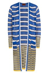 Missoni Striped Knit Long Cardigan Multicolor