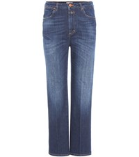 Closed High Rise Cropped Jeans Blue