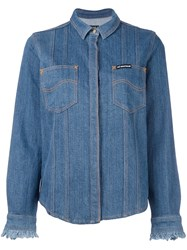 House Of Holland 'Hoh X Lee Collaboration' Denim Shirt Blue