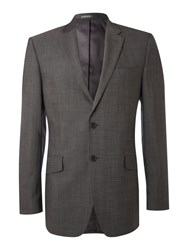 Linea Single Breasted Mohair Look Jacket Grey
