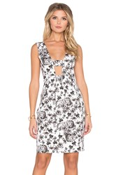 Lucca Couture Hardwoven High Waist Dress White