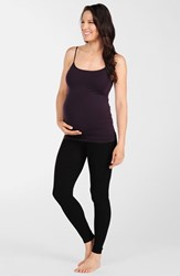 Women's Tees By Tina Micro Rib Maternity Leggings Black