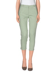Annarita N. 3 4 Length Shorts Light Green