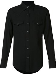 Saint Laurent Western Casual Shirt Black