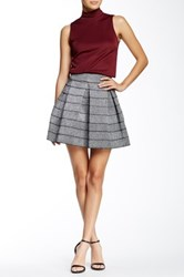 Romeo And Juliet Couture Pleated Metallic Skater Skirt Gray