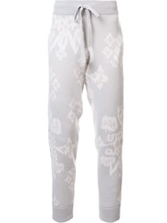 Baja East Abstract Print Track Pants Nude And Neutrals