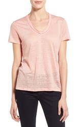 Women's Burberry Brit Linen Knit V Neck Tee