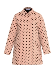 Red Valentino Polka Dot Twill Coat
