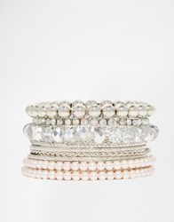 Lipsy Sparkle Bangle Pack Silver