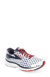 Brooks Women's 'Launch 3' Running Shoe White Peacoat Navy True Red