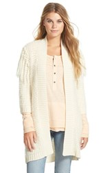 Junior Women's Volcom 'Black Sheep' Open Cardigan Bne