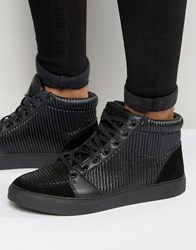 Criminal Damage Rocky High Top Trainers Black