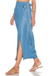 Capulet Wrap Maxi Skirt Washed Denim