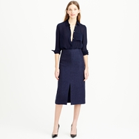 J.Crew Collection A Line Skirt In Italian Wool Gauze
