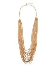 Jules Smith Designs Ghianna Multi Strand Chain Necklace Gold