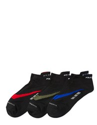 Polo Ralph Lauren Auto Low Cut Pull Tab Ankle Length Socks Set Of 3 Black