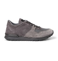 Tod's Panelled Suede And Mesh Sneakers Gray
